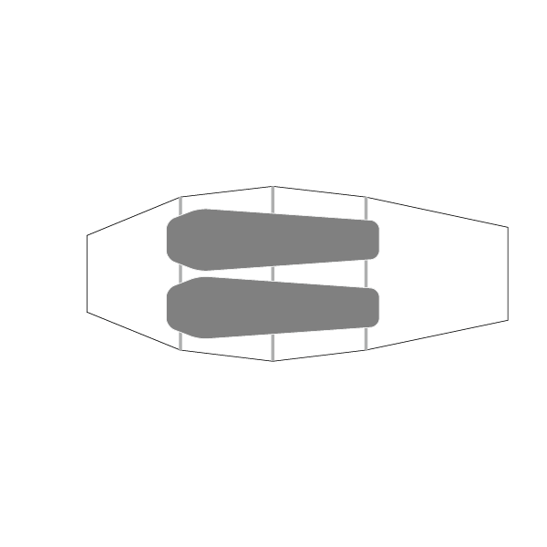Illustration of Quadratic Light Outer, showing sleeping capacity