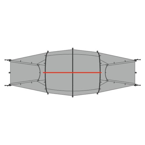 Plan of Quadratic Tent showing top pole
