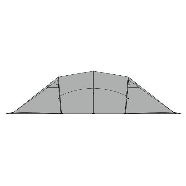 Illustration of side of Quadratic Snow Outer