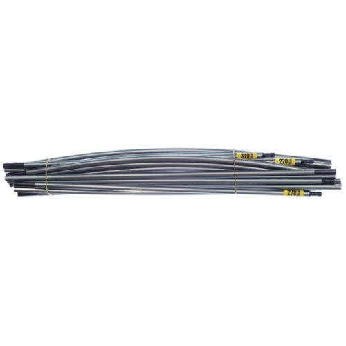 "Quadratic Main Pole Set: 2x 270 + 1x 310 cm Long, Easton Nanolite 0.351"", Bundle"