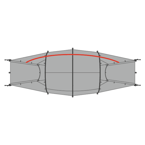 Plan of Quadratic Tent showing side pole