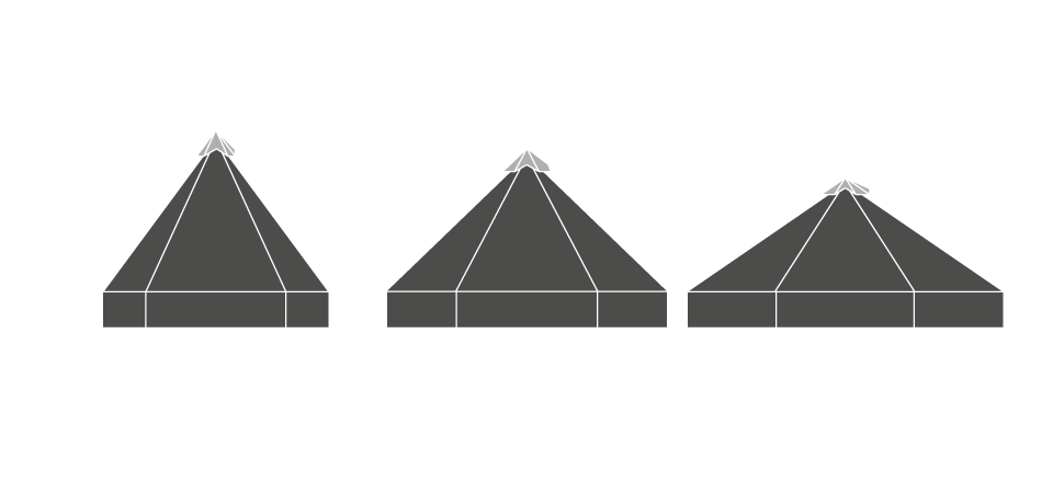 3x Shelters Elevation