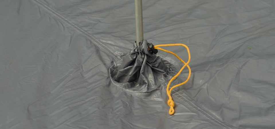 Groundfloor™, showing central gusset for trekking pole