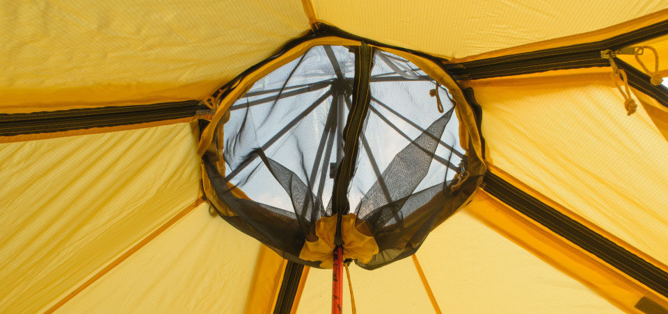 Fitted Insect Ceiling, inside a Modular Shelter