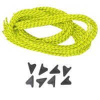 Guy Cord Set: 8x 3m lengths of Guy Cord 2.2mm, Yellow, with 8x Line-Lok® Adjusters