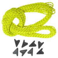 Guy Cord Set: 8x 2m lengths of Guy Cord 2.2mm, Yellow, with 8x Line-Lok® Adjusters