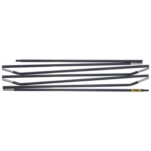 Quadratic Main Pole: 310 cm Long, Easton Custom Carbon, Flat