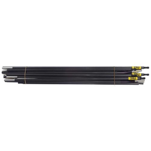 Quadratic Main Pole Set: 2x 270 + 1x 310 cm Long, Easton Custom Carbon, Bundle