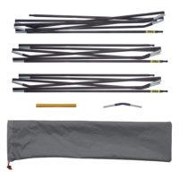 Quadratic Main Pole Set: 2x 270 + 1x 310 cm Long, Easton Custom Carbon, Easton Pole Repair Sleeve, Spare Elbow, Pole Bag