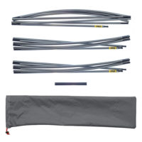 "Quadratic Main Pole Set: 2x 270 + 1x 310 cm Long, Easton Nanolite 0.351"", Easton Pole Repair Sleeve, Pole Bag"
