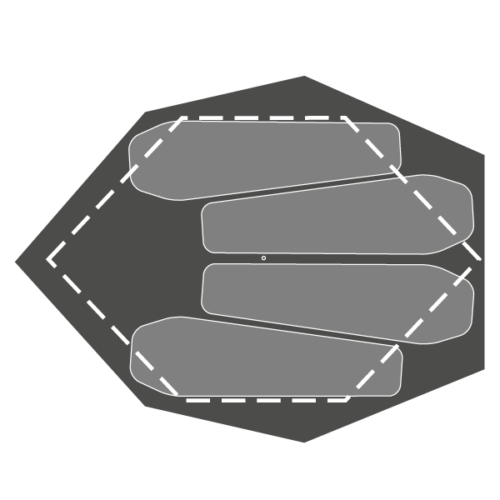 Plan of 7:II Shelter with 6:II Outline